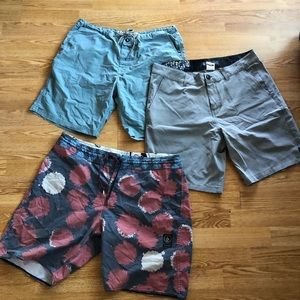 End of summer clearance: size 34 board shorts lot